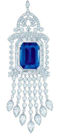 Tiffany & Co., Diamond and Sapphire Pendant.