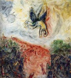 Marc Chagall The Fall of Icarus 1975 Paris Musée National dArt Moderne Centre Georges Pompidou  Dedalo e Icaro (da Ovidio a Matisse): http://ift.tt/2CaCQ5O  #art #arthistory #icarus #year-ending #painting
