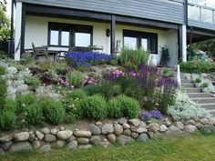 Hillside Landscaping, Front Yard Landscaping, Landscaping Ideas, Garden Living, Home And Garden, Garden Retaining Wall, Outdoor Living Areas, Terrace Garden, Green Garden