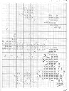 Cross Stitch Charts, Cross Stitch Patterns, Cross Stitch Silhouette, Blackwork Patterns, Filet Crochet, Coloring Sheets, Needlework, Embroidery, Squirrels