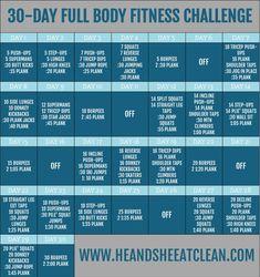 30-Day Full Body Fitness Challenge