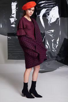 Photographer: Paavo Lehtonen MUAH: Piia Hiltunen Stylist: Shadi Razavi Model: Christina Shevelkova Red Moon, Light And Shadow, Blue Dresses, Ruffles, Blues, That Look, Feminine, Coat, Collection