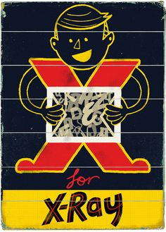 X for X-Ray by Paul Thurlby, via Flickr