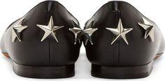 Givenchy Black Star Accents Mia Flats