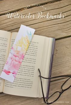 Watercolor Bookmarks & Book Reviews - Designs By Miss Mandee