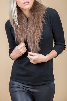Mocha Fur Collar | Jayley Fox Fur Collar