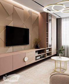 Bedroom Tv Unit Design, Tv Unit Bedroom, Indian Bedroom Design, Living Room Wall Designs, Tv Unit Interior Design, Luxury Interior Design, Modern Interior, Tv Cabinet Design Modern, Tv Cabinet Wall Design