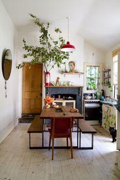 | bohemian kitchen vibe
