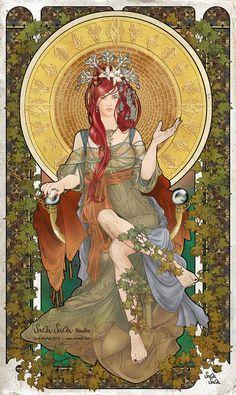 The High Priestess (tarot image) by ~sama-sama-studio