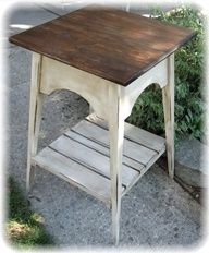 Homespun Happenings: Tutorials on refinishing furniture using paint, wax, and stain