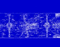 Plan de vaisseau spatial Voyager NASA par BlueprintPlace sur Etsy
