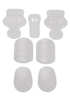 Schutt Youth Slide Snap 7-Piece Pad Set, White, Youth by Schutt. $17.99. Includes lightweight hip pads, tailbone pad, thigh pads, and knee pads. Set features sliding snaps for an easy fit into all major brands of youth football pants.