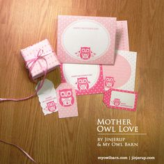 Mother owl stationery and gift wrap (free printables)