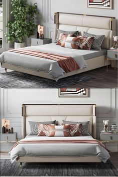 Luxury Bedroom Furniture, Master Bedroom Interior, Luxury Bedroom Design, Bedroom Bed Design, Bed Furniture, Beautiful Bedroom Designs, Small Bedroom Designs, Beautiful Bedrooms, Bed Back Design