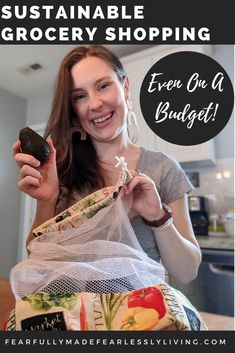 Grocery shopping: can't live with it, can't live without it. No matter the diet, we all have to eat and therefore, buy food. Keep reading for 7 ways that sustainable grocery shopping is possible, even on a budget. Homeopathy, Sustainable Living, Healthy Habits, Mindful, Fabric Crafts, Sustainability, Natural Remedies, Eco Friendly, Budgeting