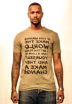 Man in the Mirror. If you wanna make the world a better place take a look at your self and then make a change.  #tshirts #playshirts #prints #fashion #street #wear #mens #clothing #graffiti #quote #mirror #man #mj #jackson #lyrics #king #pop #art