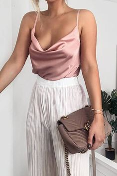 Nude Cowl Neck Satin Cami Top – I SAW IT FIRST