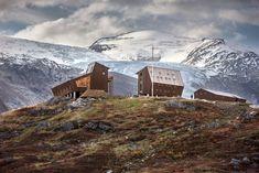Snøhetta perches Tungestølen hiking cabins alongside Jostedalen glacier