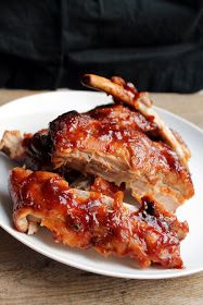 The Secret to Crockpot Ribs from The Stay At Home Chef. This post will tell you everything you need to know to create the perfect crockpot ribs, including a secret tip that takes them from a soggy mess to absolute perfection! Slow Cooked Meals, Crock Pot Slow Cooker, Crock Pot Cooking, Slow Cooker Recipes, Crockpot Recipes, Cooking Recipes, Cooking Ribs, Meat Meals, Crock Pots