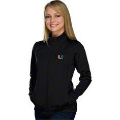 Miami Hurricanes Women's Black Form Full-Zip Lightweight Performance Jacket $69.99 http://www.shopmiamihurricanes.com/Miami-Hurricanes-Womens-Black-Form-Full-Zip-Lightweight-Performance-Jacket-_-121747003_PD.html?social=pinterest_pfid28-03887