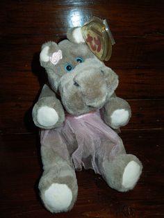 $37.29 FREE SHIPPING Hippopotamus Grace ballerina tutu jointed plush retired 93 TY MWMT Pristine NEW