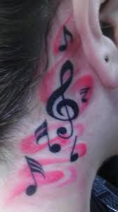 #music #notes #pink #tattoo #inked