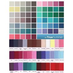 """""""summer, cool and true summer palettes"""" by soliferi-1 on Polyvore"""