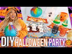 DIY halloween decorations + treats - YouTube