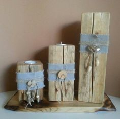 Pfosten mit Kerze Post with candle handwerk – The World Wooden Candle Holders, Seashell Crafts, Farmhouse Wall Decor, Diy Wood Projects, Wood Blocks, Craft Fairs, Barn Wood, Home Crafts, Decoration