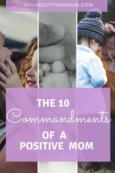 """Being a mom is a Christian ministry. Check out my 10 easy """"rules"""" to follow based on biblical quotes to help you be a more positive mom."""