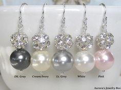 Francesca  EARRINGS  Bridal Earrings Bridal by AuroraJewelryBox, $28.00