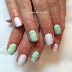Ann-Marie's nail design! #chevron #nailart #naildesign #prettynails #summer #nailporn #nailgasm #nailjunkie #prettynails #wowwownails #toronto