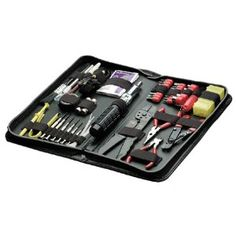 Fellowes 55-Piece Computer Toolkit, Black