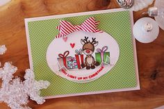 Nichol Spohr LLC: Simon Says Stamp December 2016 Card Kit | Light Up Rudolf Card