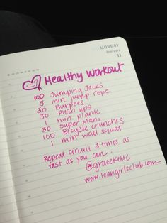 Heart Healthy Workout - keep a fitness journal to help you stay on track #stradafitness