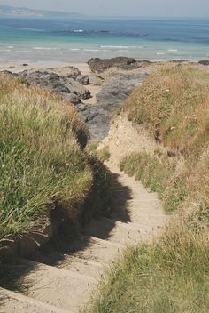 Godrevy lighthouse: a walk along the Cornish coast path at Devon And Cornwall, Cornwall England, Hayle Cornwall, West Cornwall, Beautiful World, Beautiful Places, South West Coast Path, English Countryside, Places To See