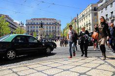 Praça Camões (Camões square). Lisbon, Portugal.