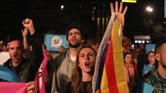 The Catalan government said it earned the right to independence from Spain after a contested referendum exploded into violence Sunday. 10-04-2017