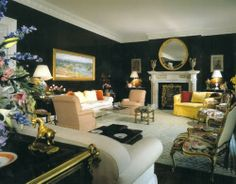 www.eyefordesignlfd.blogspot.com : 2014 Trend....Decorating Black Rooms With Bright colors
