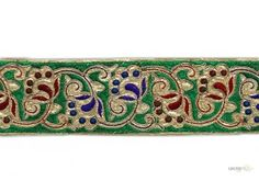 Style No. : 001003  This Embroidery Trims ( embroidered trim wide ) comes with Embroidery , Sequence decoration widely used by Apparel & Clothing Industry