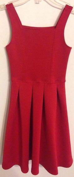 Abercrombie kids girls size 7/8 dress red sleveless pleated polyester blend #AbercrombieKids #ChurchChristmasDressyEverydayHolidayParty #Abercrombie #Dress #GirlsFashion