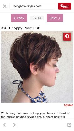 70 Short Shaggy, Spiky, Edgy Pixie Cuts and Hairstyles Brunette Pixie with Feathered Layers Choppy Pixie Cut, Short Choppy Haircuts, Edgy Pixie Cuts, Choppy Layers, Pixie Bob, Long Pixie, Haircut Long, Bob Haircuts, Asymmetrical Pixie