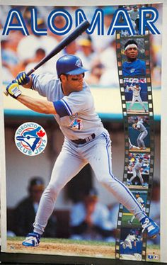 RARE Roberto Alomar 1993 Toronto Blue Jays Action Poster (Norman James Canada) - Sold for $19.99 Oct 2013