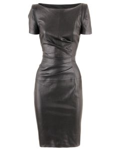 Black Leather Dress. A twist on the LBD, great alternative to a cocktail dress