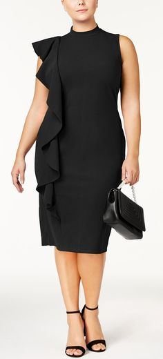 87b1eb1ac99 Plus Size Ruffled Sheath Dress - Plus Size Party Dress