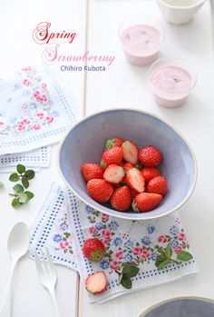 Strawberrys with Caspian Sea Yogurt
