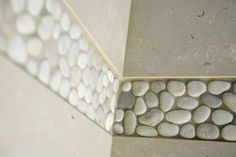 Organic River Stones for luxurious #bathroom #texture