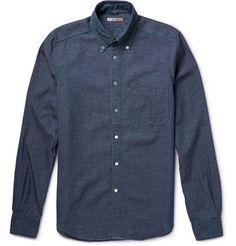 dab6d38a4e5c Chemise button-down à carreaux madras - Bleu pastel - A.P.C. HOMME    Clothing.   Pinterest