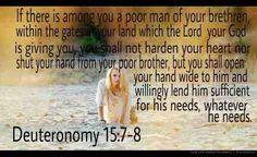 |----[The Galactic Empire]----|: Deuteronomy 15:7-8