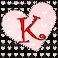 Heart Initials ♥ K